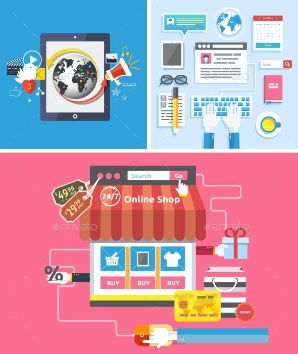 Online Shop Social Media and Seo Optimization - Concepts Business