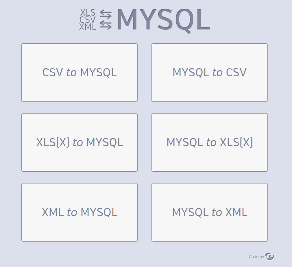 ultimate db import export csv xls x xml mysql by mesyre codecanyon