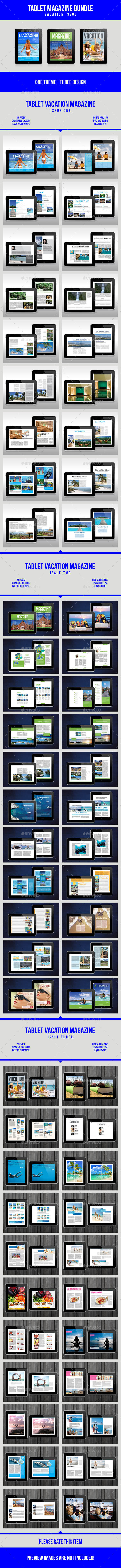 Tablet Vacation Magazine Bundle - Digital Magazines ePublishing