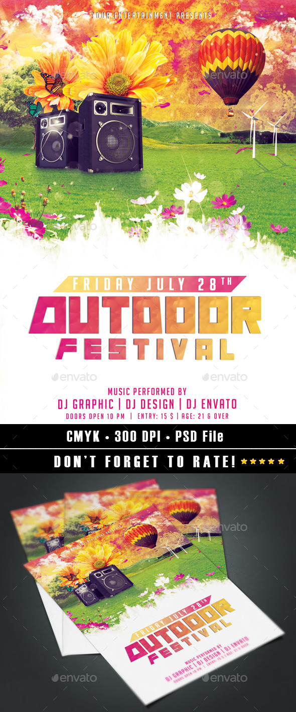 Outdoor Festival - Events Flyers