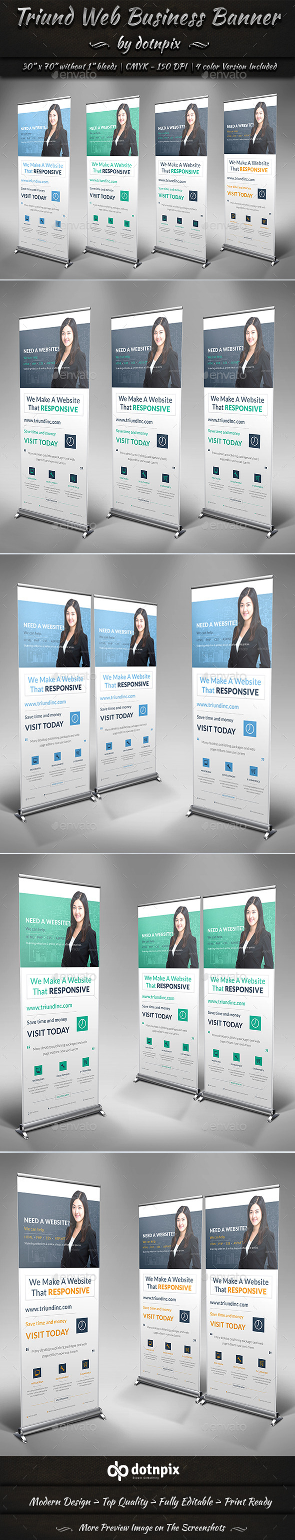 Triund Web Business Banner - Signage Print Templates