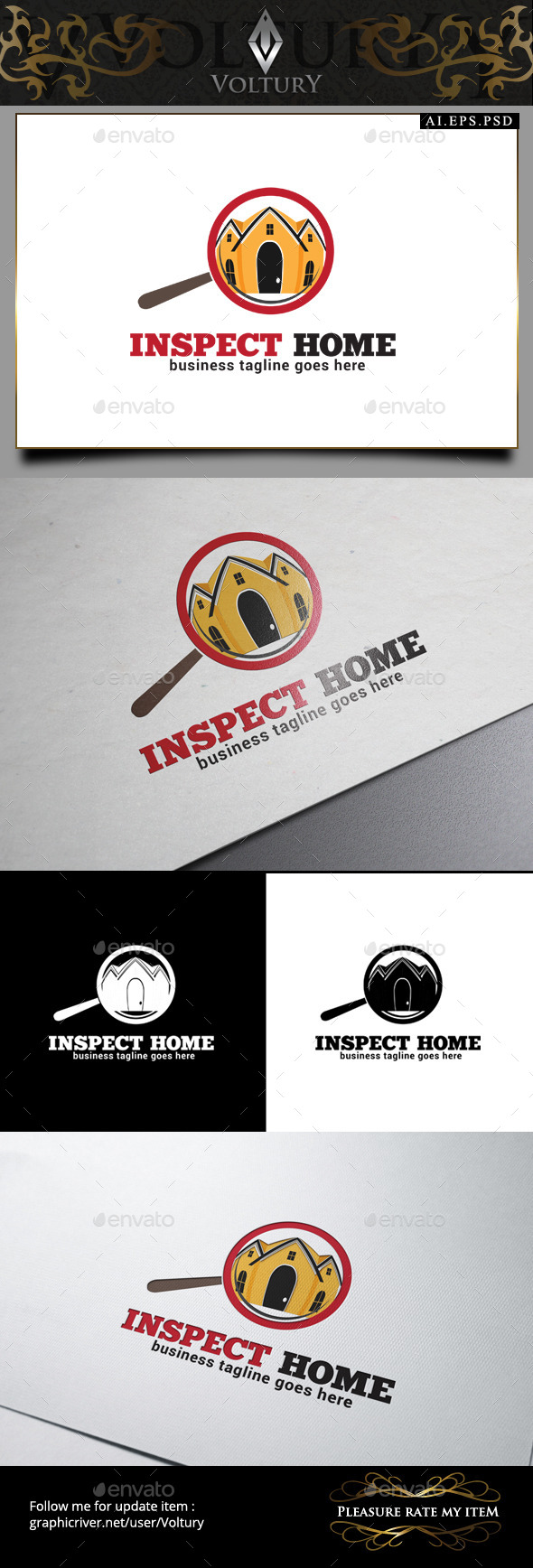 Inspect Home Logo - Buildings Logo Templates