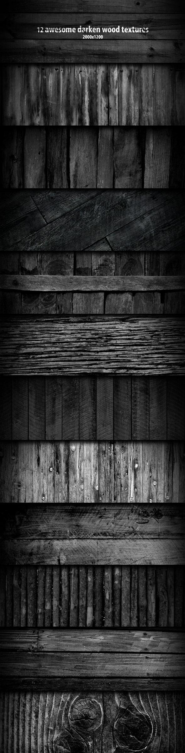 12 Darken Wood Textures - Wood Textures