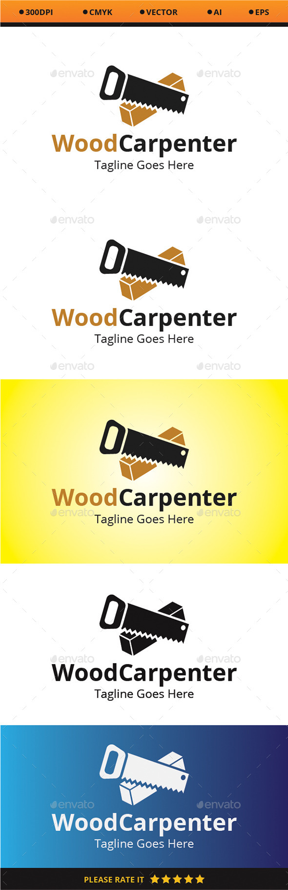 Wood Carpenter - Logo Templates