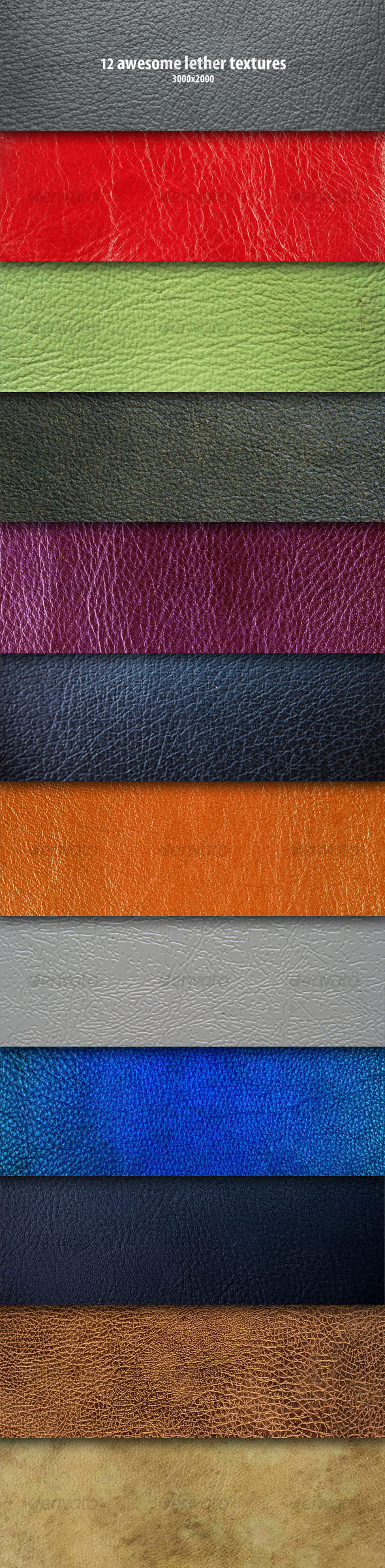 12 Lether Textures - Fabric Textures