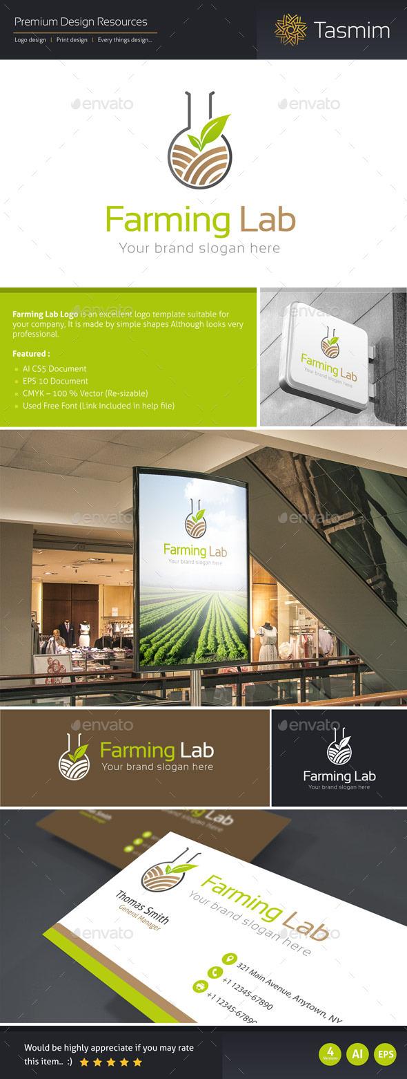 Farming Lab Logo Template - Nature Logo Templates