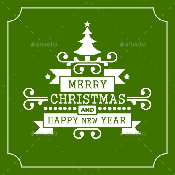 Christmas Retro Typographic Background - Christmas Seasons/Holidays