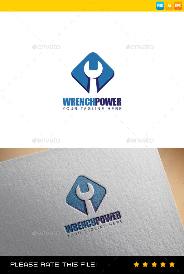 Wrench Logo - Vector Abstract