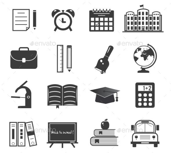 Back to School Icons Set - Conceptual Vectors