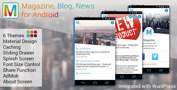 Magazine, Blog, News App for Android - CodeCanyon Item for Sale