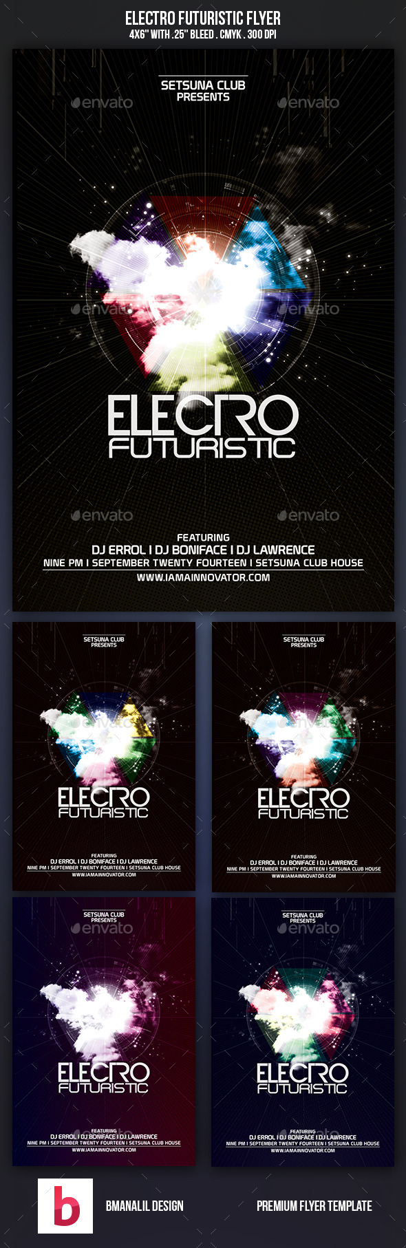 Electro Futuristic Flyer - Clubs & Parties Events