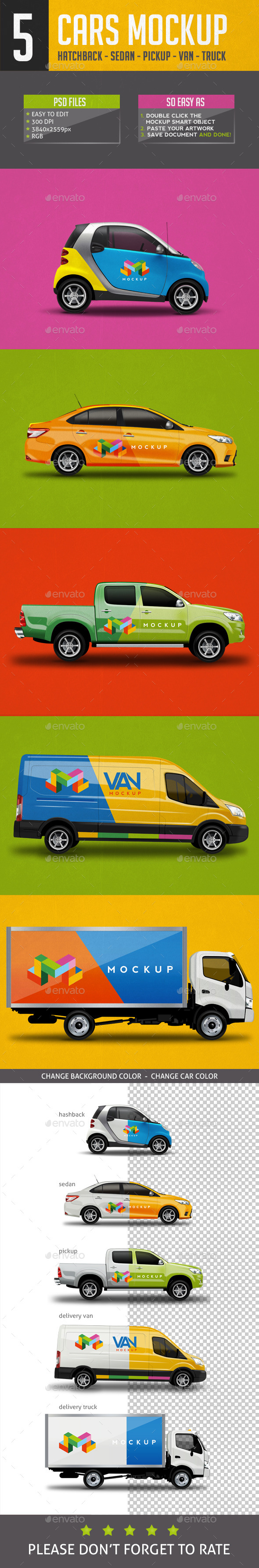 Cars Mock Up V1 - Vehicle Wraps Print