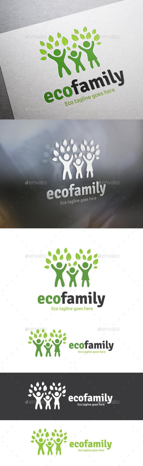 Eco Family - Humans Logo Templates