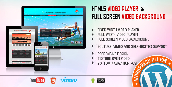 Video Player & FullScreen Video Background - WP Plugin - CodeCanyon Item for Sale
