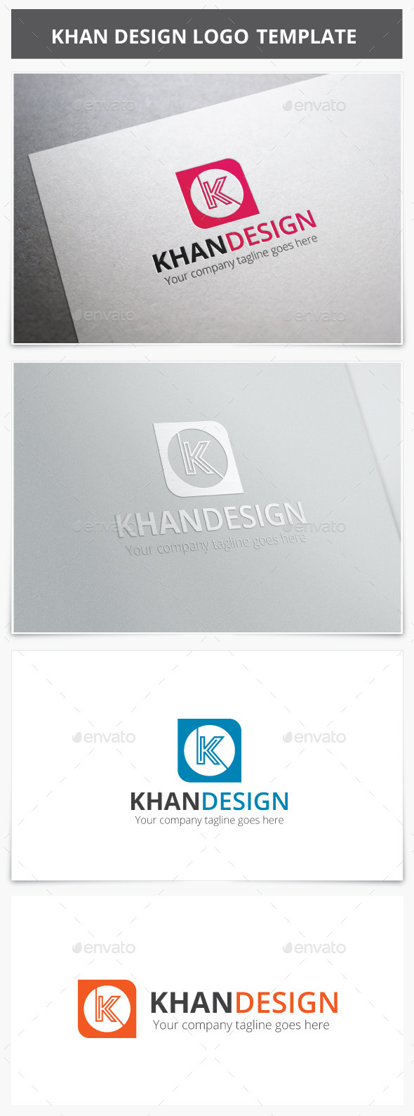 Khan Design Logo - Letters Logo Templates