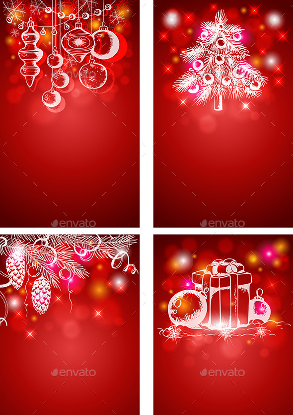 Red Christmas Vertical Backgrounds - Christmas Seasons/Holidays