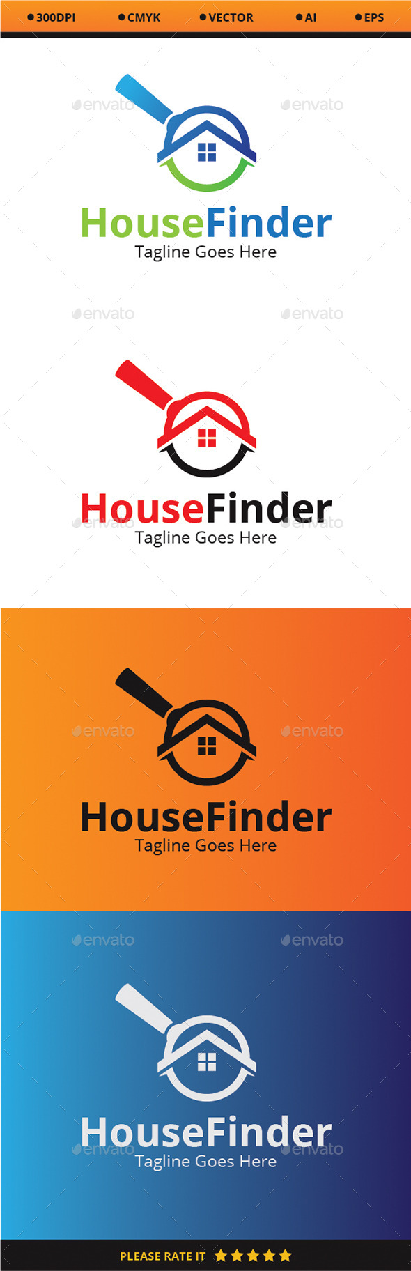 House Finder - Buildings Logo Templates