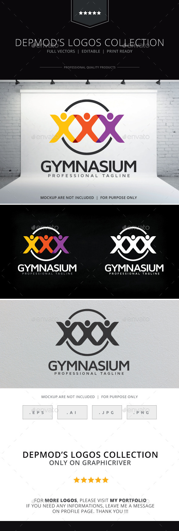 Gymnasium Logo - Humans Logo Templates
