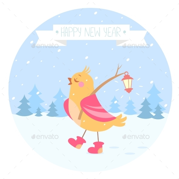 Bird New Year - Christmas Seasons/Holidays