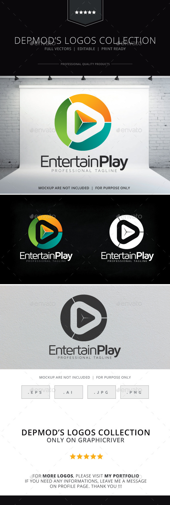 Entertain Play Logo - Symbols Logo Templates