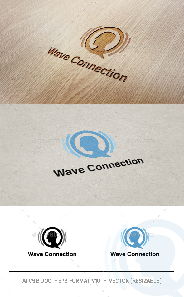 Wave Connection - Humans Logo Templates