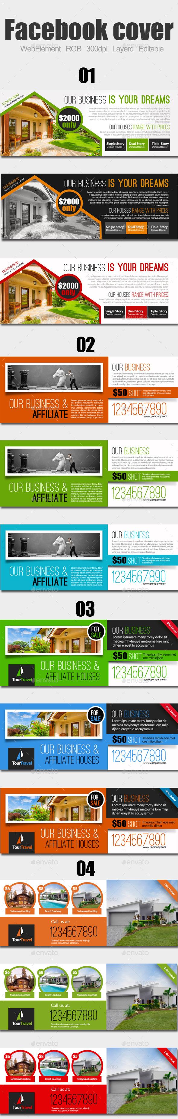 Real Estate Facebook Covers Bundle - Facebook Timeline Covers Social Media