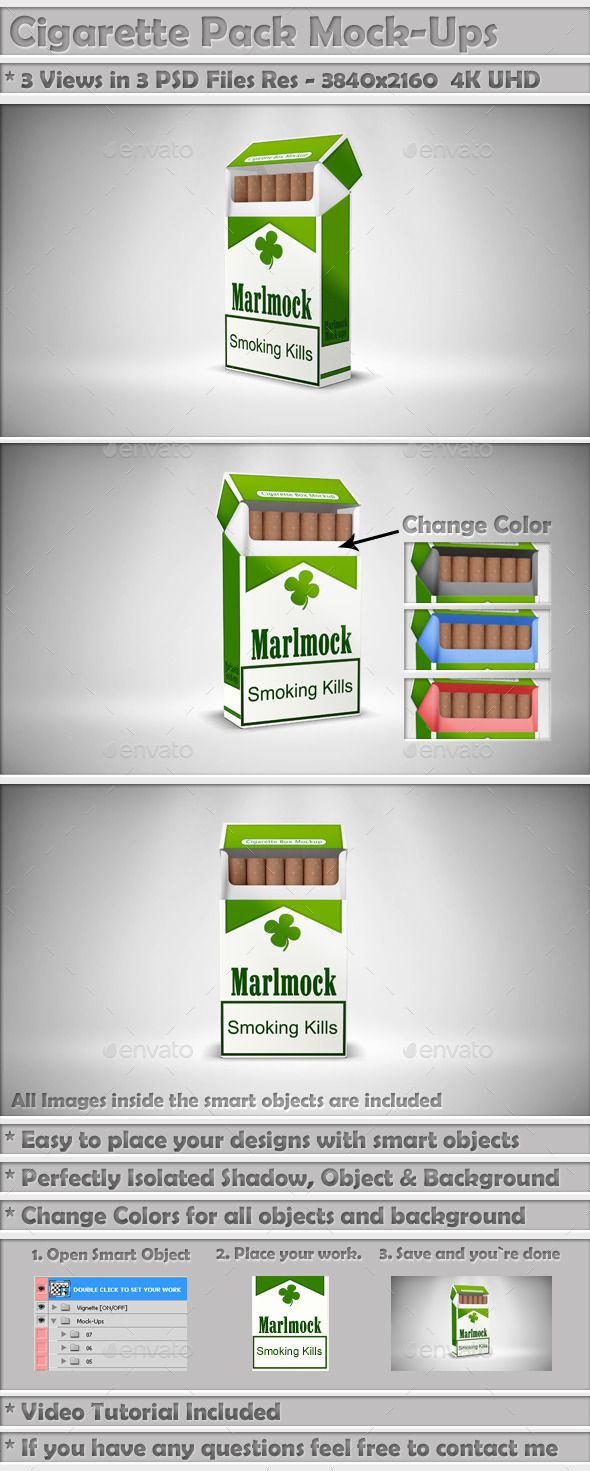 Cigarette Mockup Package - Miscellaneous Packaging
