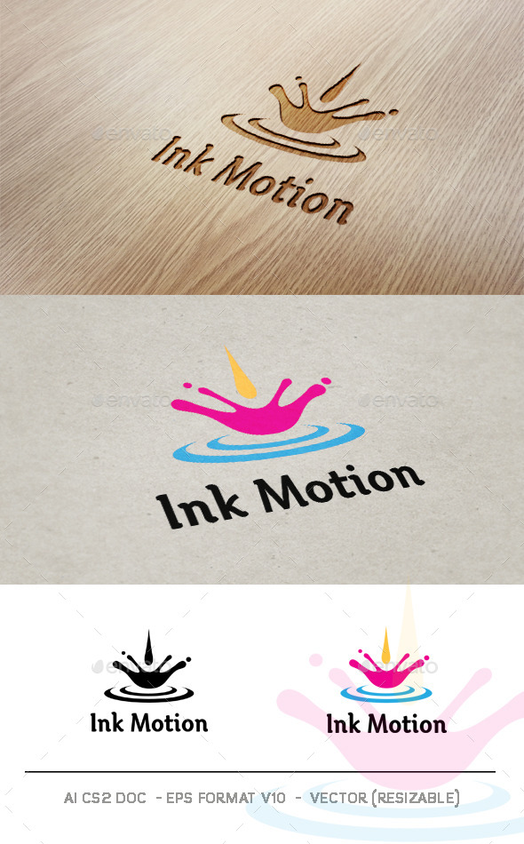 Ink Motion v2 Logo - Symbols Logo Templates