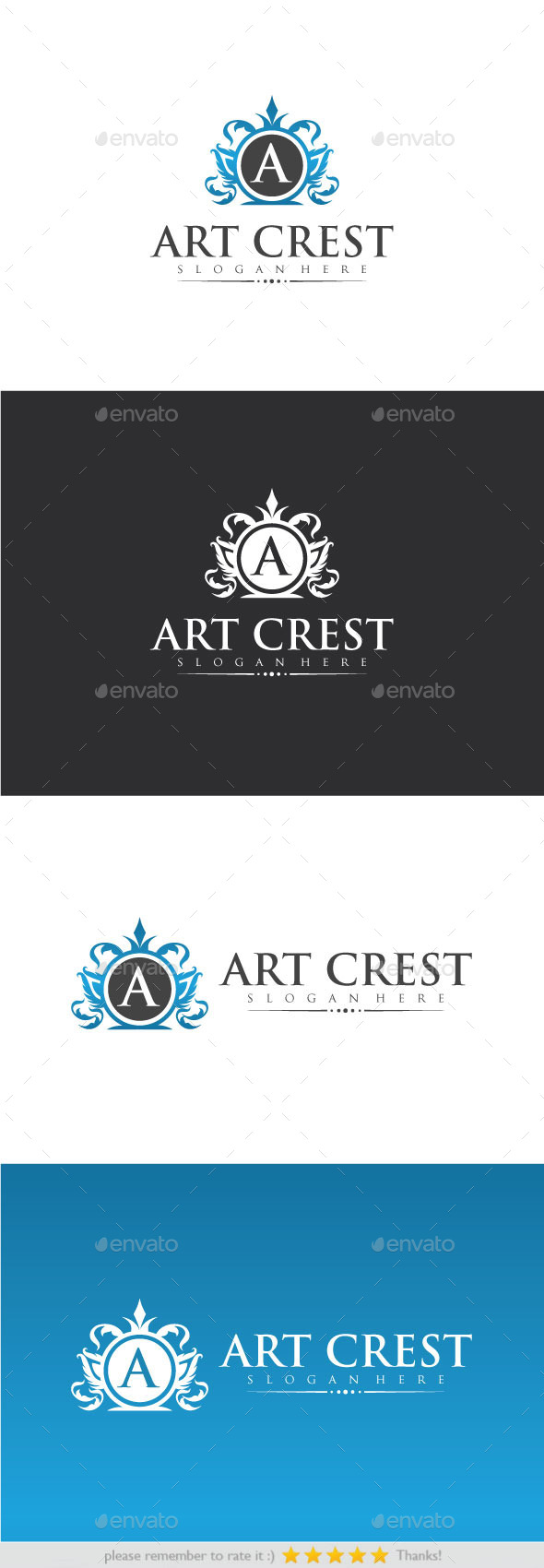 Art Crest - Crests Logo Templates
