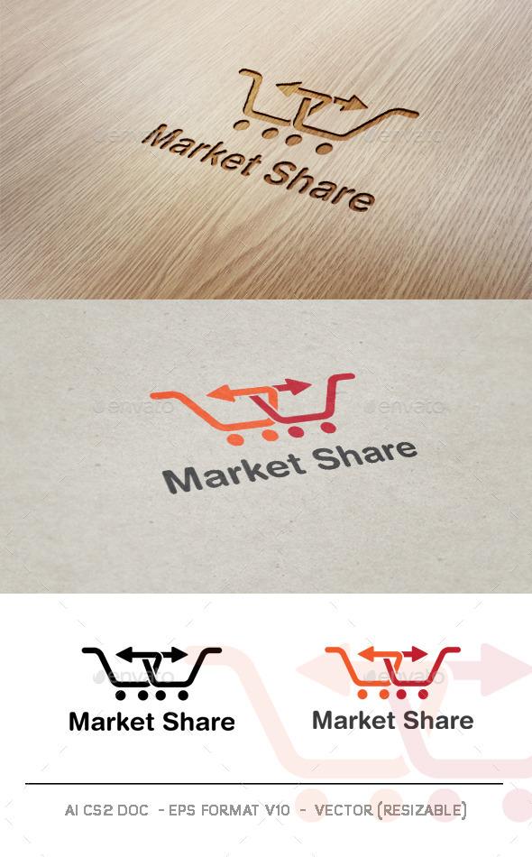 Market Share V2 Logo - Symbols Logo Templates