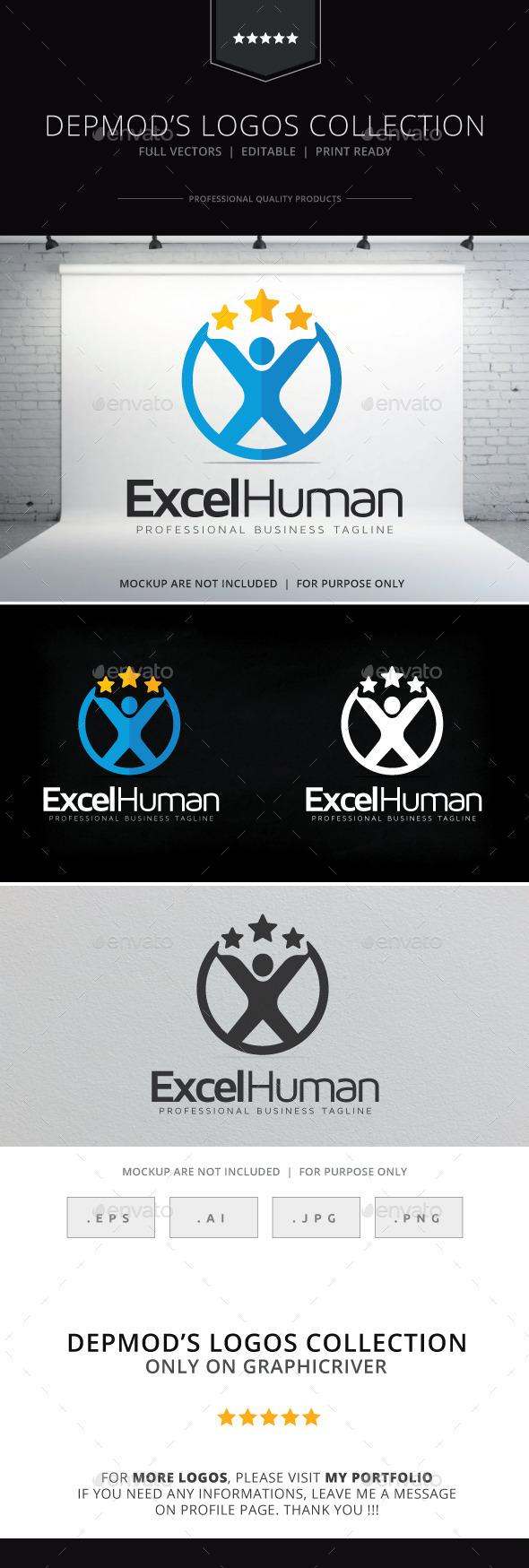 Excel Human Logo - Humans Logo Templates