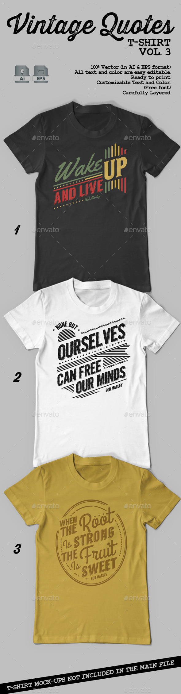 Vintage Quotes T-Shirt Vol. 3 - T-Shirts