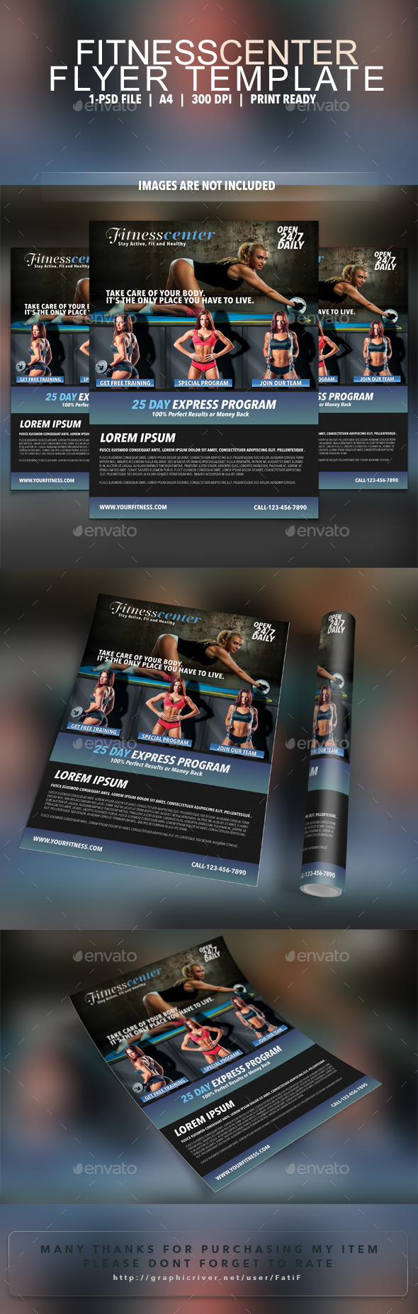Fitness Center Flyer Template - Corporate Flyers