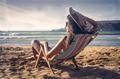 Sunbathing at the seaside  - PhotoDune Item for Sale