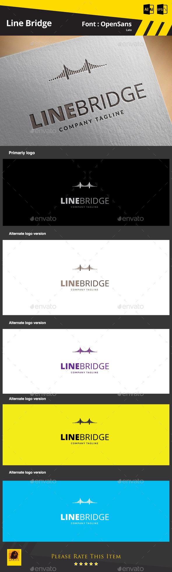 Line Bridge Logo Template - Objects Logo Templates