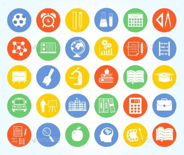 Back to School Icon Set - Icons