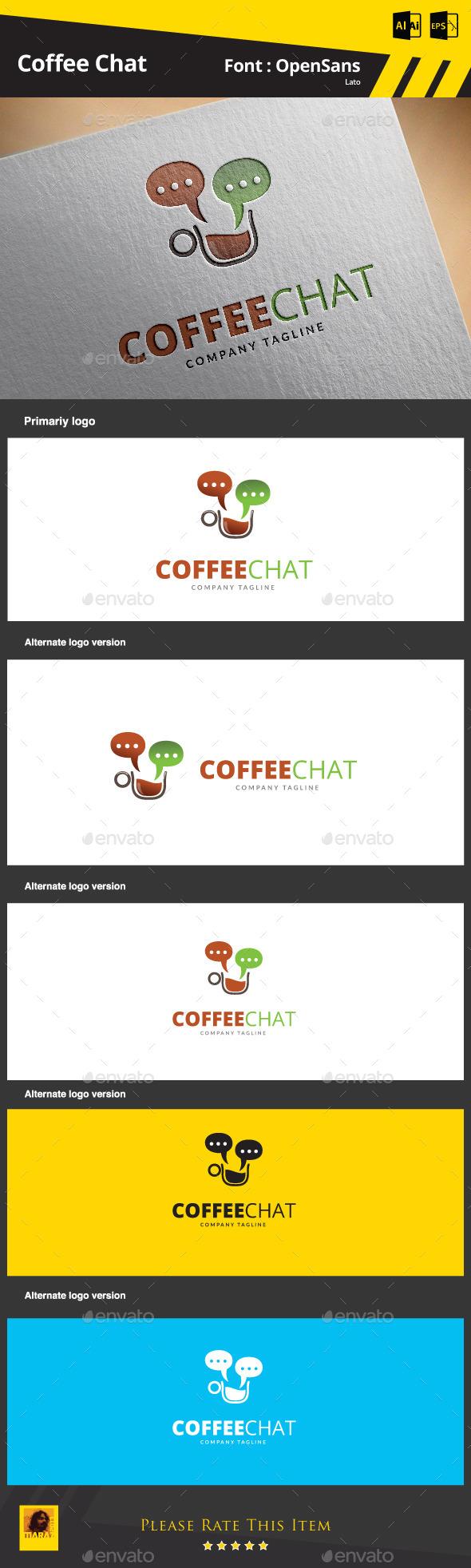 Coffee Chat  Logo Template - Symbols Logo Templates