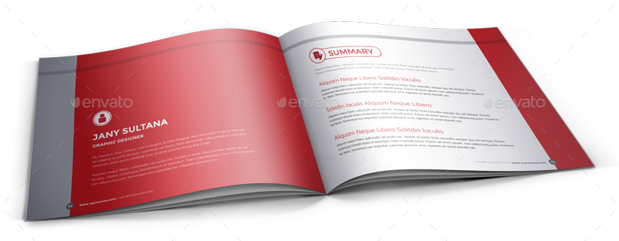resume booklet design indesign by janysultana graphicriver