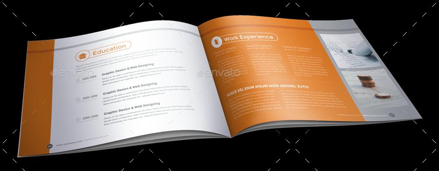 Resume Booklet Design (InDesign) by JanySultana | GraphicRiver