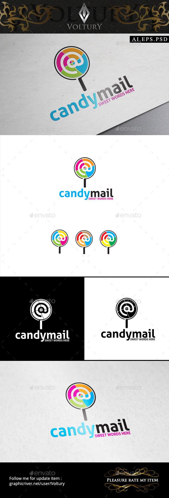 Candy Mail Logo - Symbols Logo Templates