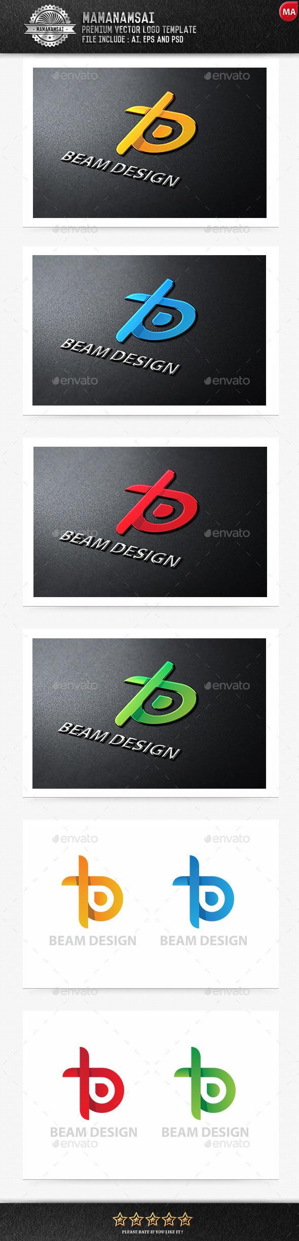 Beam Design Logo - Letters Logo Templates