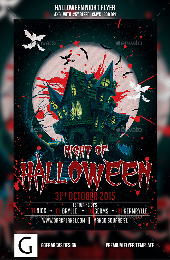 Halloween Night Flyer - Holidays Events