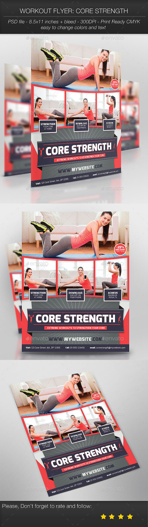 Workout Flyer: Core Strength - Sports Events
