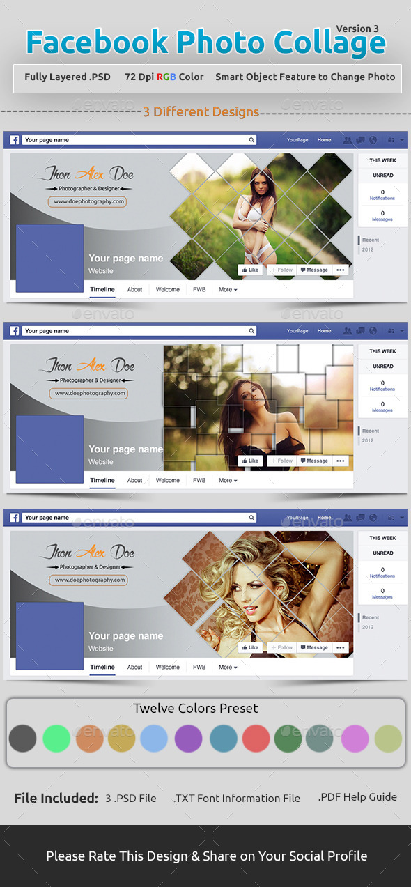 Facebook Photo Collage V3 - Facebook Timeline Covers Social Media