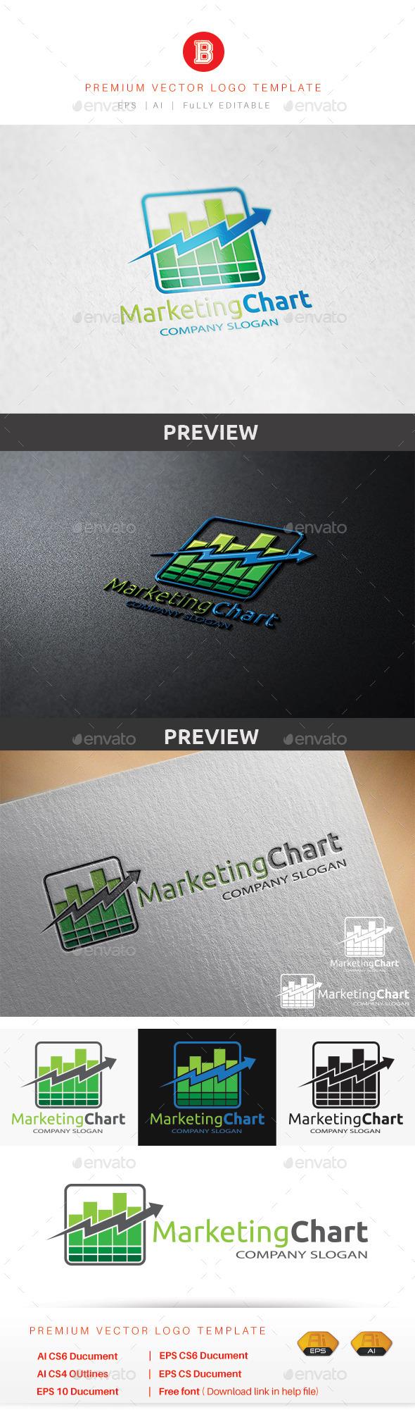 Marketing Chart - Symbols Logo Templates
