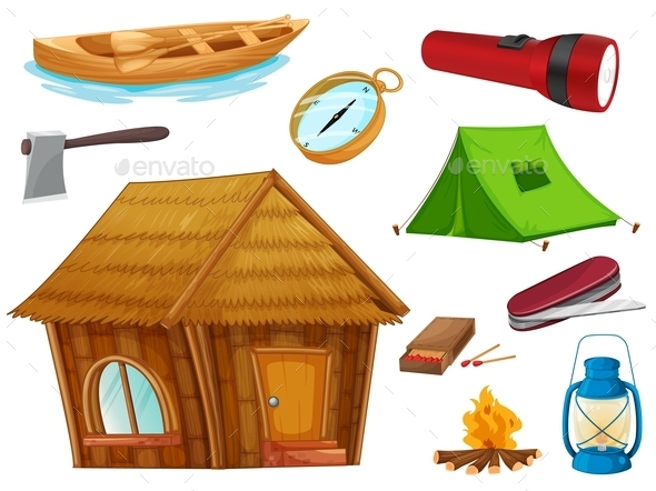 Camping Objects - Buildings Objects