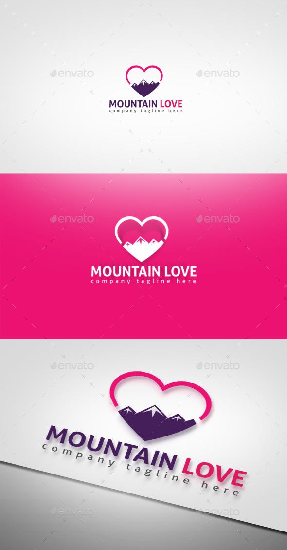 Mountain Love - Nature Logo Templates