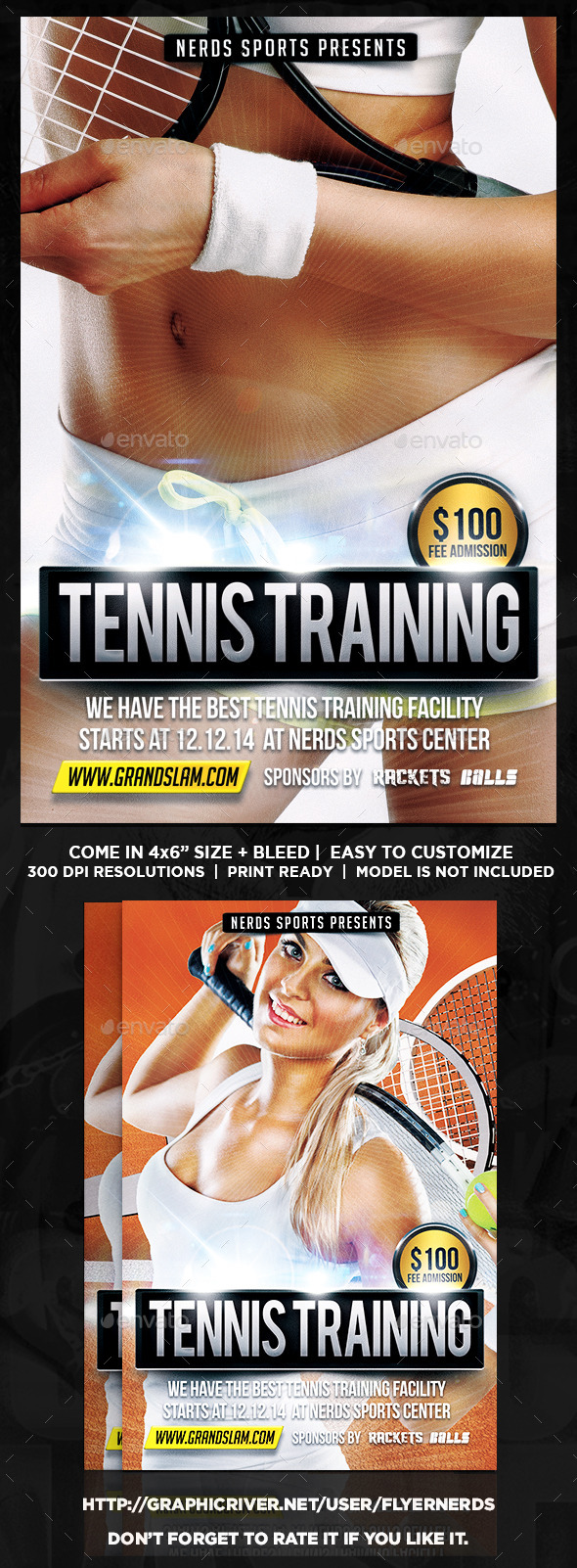 Tennis Training Flyer - Sports Events