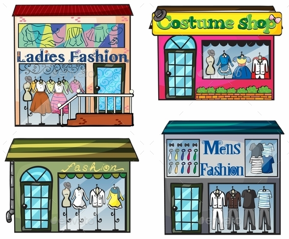 Fashion Shop - Buildings Objects