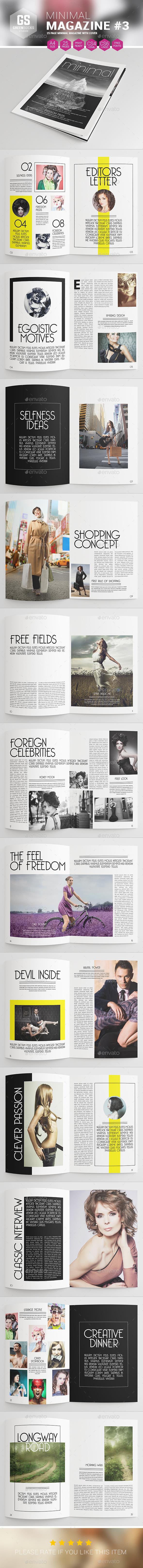 Minimal Magazine #3 - Magazines Print Templates